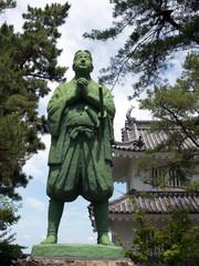 島原城の天草四郎の銅像
