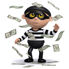 3d Burglar is after your money