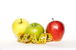 Mele e metro, misura, dieta, salute, alimentazione