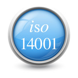 Symbole glossy vectoriel norme ISO 14001 poster