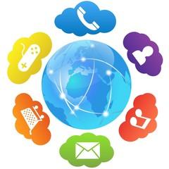 ベクター、グローバルネットワークとアプリ