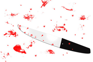 Knife with blood all around