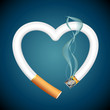 Cigarette burning Heart