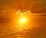 Fototapeta natura - chmura - Zachód / Wschód Słońca