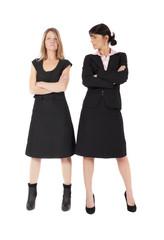 Zwei Frauen konkurieren