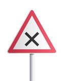 Panneau - intersection où la priorité à droite est applicable poster