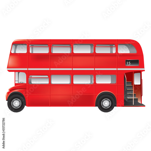 London symbol - red bus - isolated -detailed illustration - 35722786