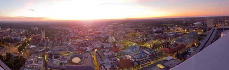 Sonnenuntergang über Leipzig