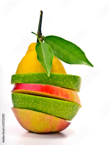 Funny fruit composition