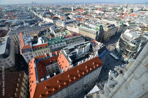 Vue aérienne de Vienne