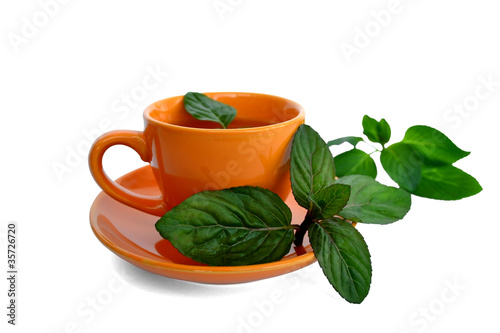 drink with mint leaves