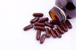 brown vitamin capsules