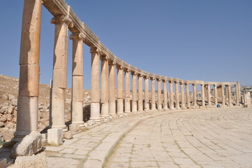Oval plaza in Jerash,Jordan