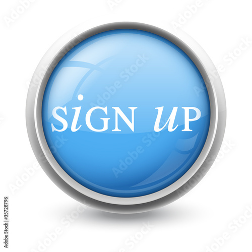 Symbole glossy vectoriel s'enregistrer sign up