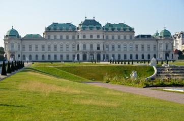 Soleil au Palais du Belvédère à Vienne