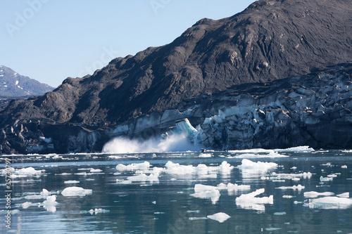 Columbia Glacier carving