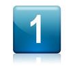 Boton cuadrado azul numero 1
