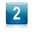 Boton cuadrado azul numero 2