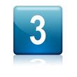 Boton cuadrado azul numero 3