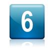 Boton cuadrado azul numero 6