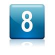 Boton cuadrado azul numero 8