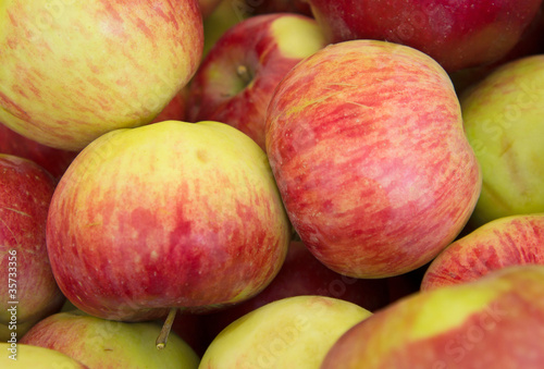 Apples red background