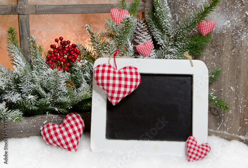 tafel zum beschriften f r weihnachten stockfotos und. Black Bedroom Furniture Sets. Home Design Ideas