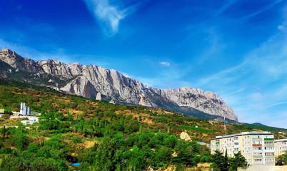 South part of Crimea , mountains  Ai-Petri  landscape. Ukraine.