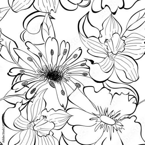 Monochrome seamless wallpaper © Regina Jersova