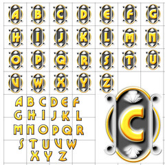 abc alphabet background cameo upper lower design