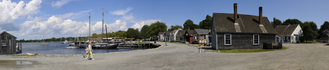 Waterfront, Mystic Seaport, Mystic, Connecticut, USA