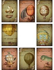 Vintage Hot Air Balloons ATC