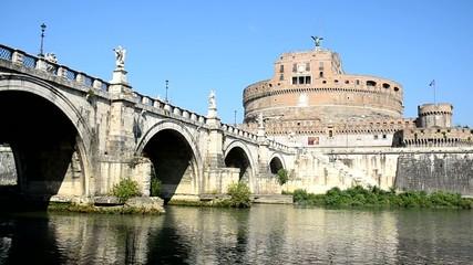 Fiume Tevere e Castel Sant'Angelo, Roma