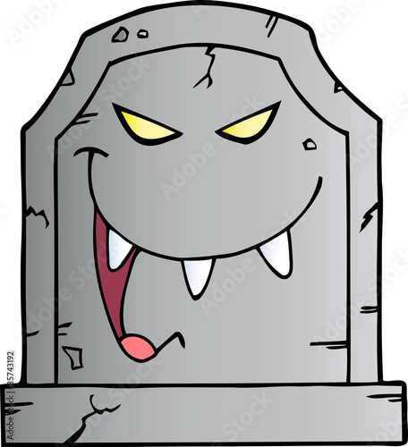 Laughing Tombstone Cartoon Character