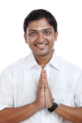 Traditional Indian young man