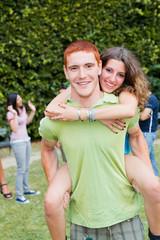 Happy Teenage Couple Portrait