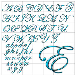 abc alphabet background edwardian design