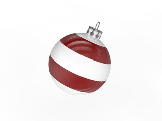 3d Rendering Christbaumkugel gestreift