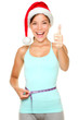 Christmas weight loss fitness concept