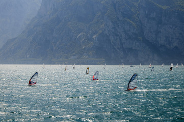 Windsurfing on Lake Garda Italy