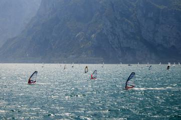 Windsurfing on Lake Garda Italy
