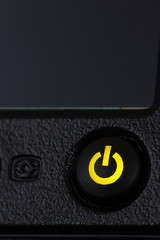 Power button with green light