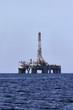 Italy, Mediterranean Sea, offshore oil platform