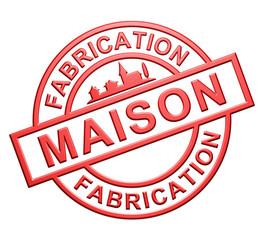 """""""Fabrication Maison"""" Cachet (rouge)"""