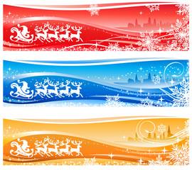 Santa Sleigh Christmas Backgrounds