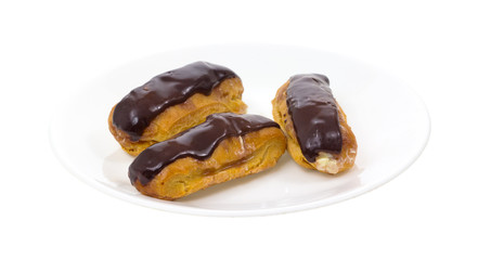 Eclairs on Plate