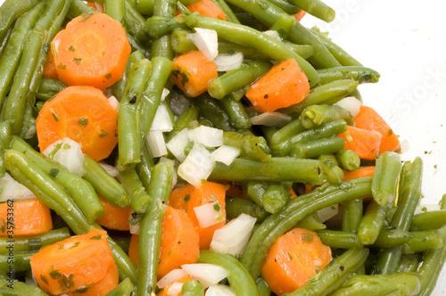Bohnensalat mit Karotten