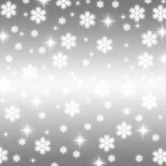 christmas snowflakes and stars illustration