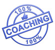 """100% Coaching"" Blue Icon"