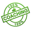"""100% Coaching"" Green Icon"